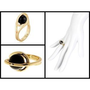 TRINA TURK Caged Ball Ring - Black